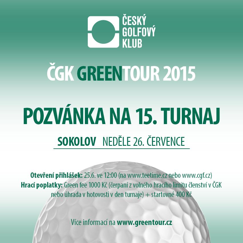 ČGK GREENTOUR 2015 - postupný start od 9.00