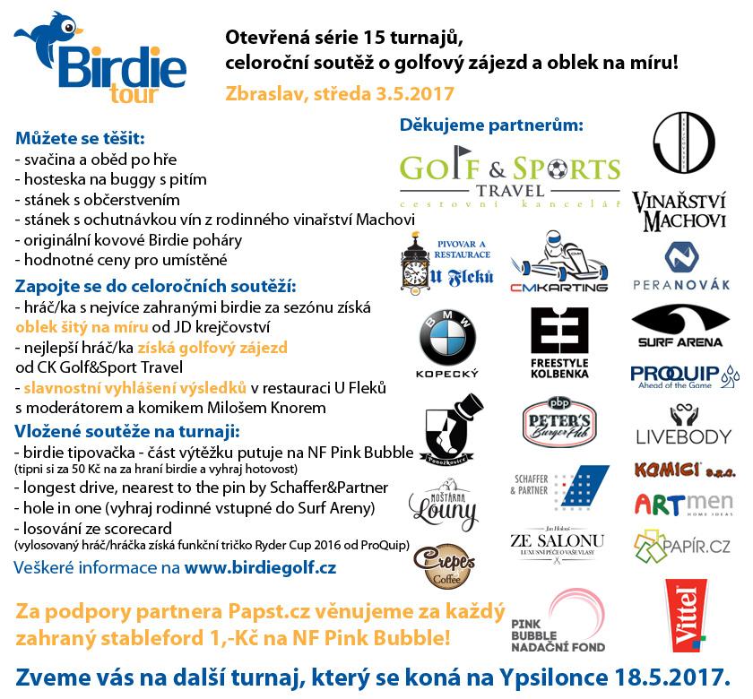 Birdie Tour - celoroční soutěž o golfový zájezd a oblek na míru!