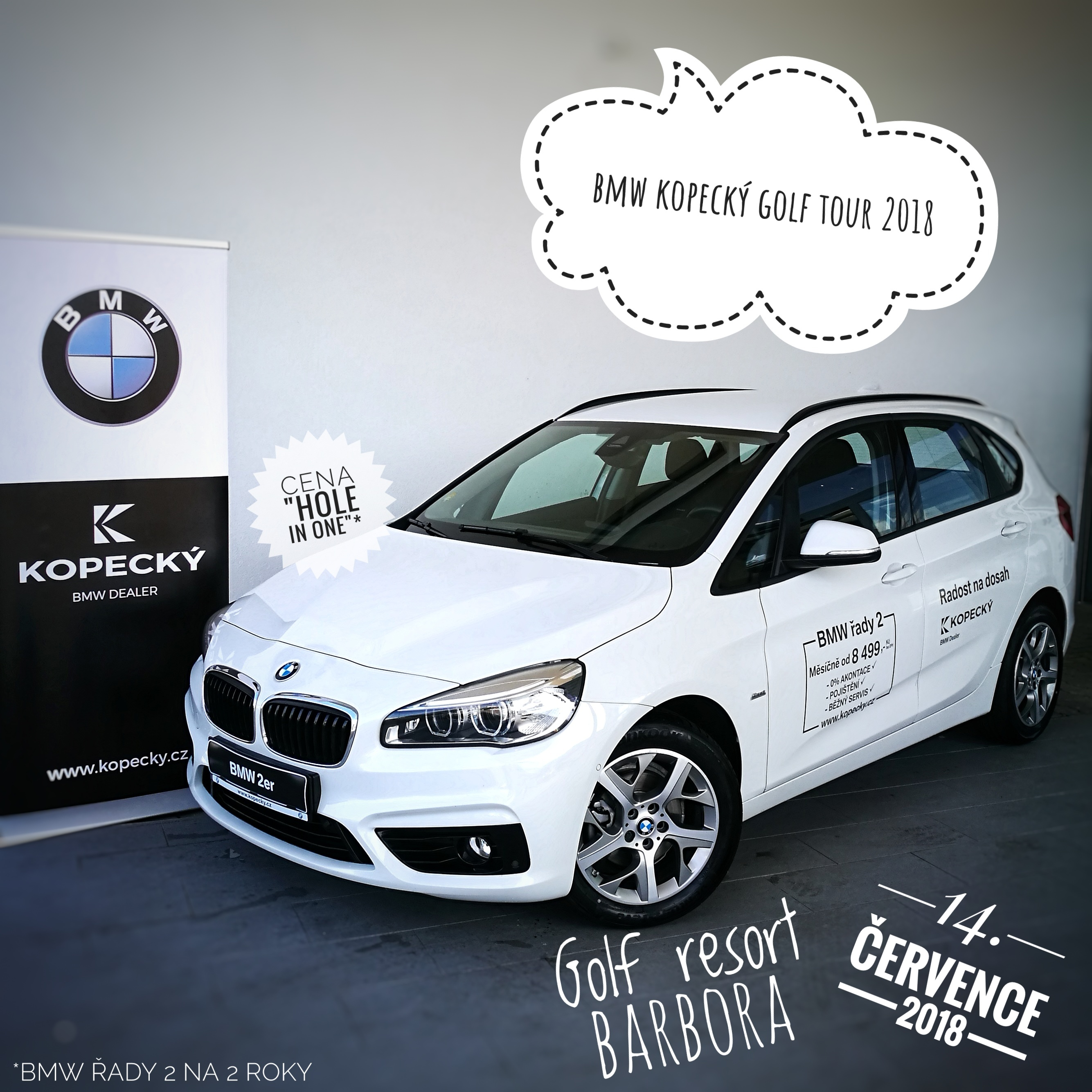 BMW KOPECKÝ GOLF TOUR 2018 startovné 990 Kč, FEE 0 Kč - hrajeme o vůz BMW !!!