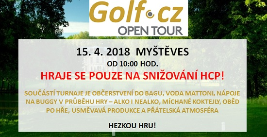 Golf.cz Open Tour - hraje se pouze na snížení HCP!